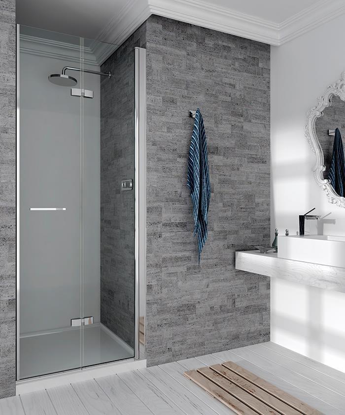 expertbath fr furo p18 paroi de douche. Black Bedroom Furniture Sets. Home Design Ideas