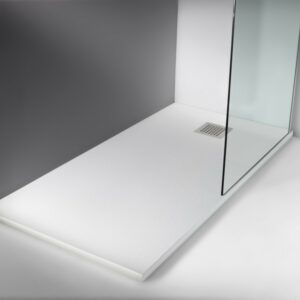 Receveur de douche sur mesure Stone T60 Blanco