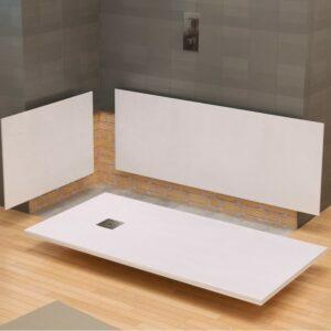 panneaux muraux  blanc pour receveur de douche