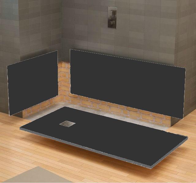 Expertbath fr stone panneaux muraux texture ardoise for Panneaux muraux inox