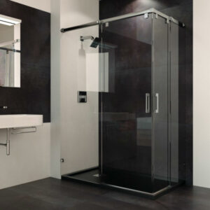 Paroi coulissante de douche sur mesure SHAWA D20. Sans profils inférieurs